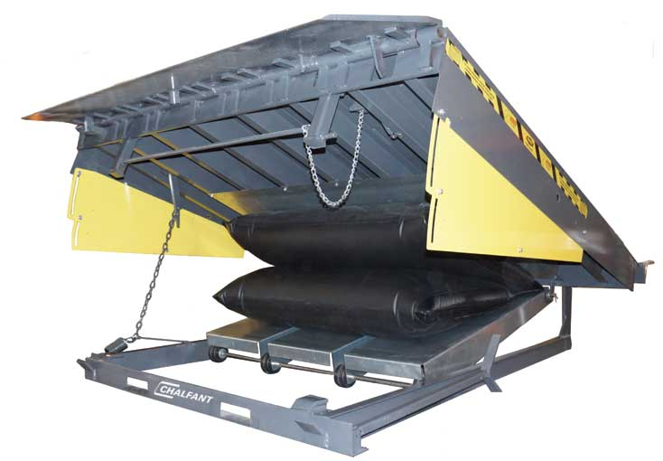 air bag powered dock leveler